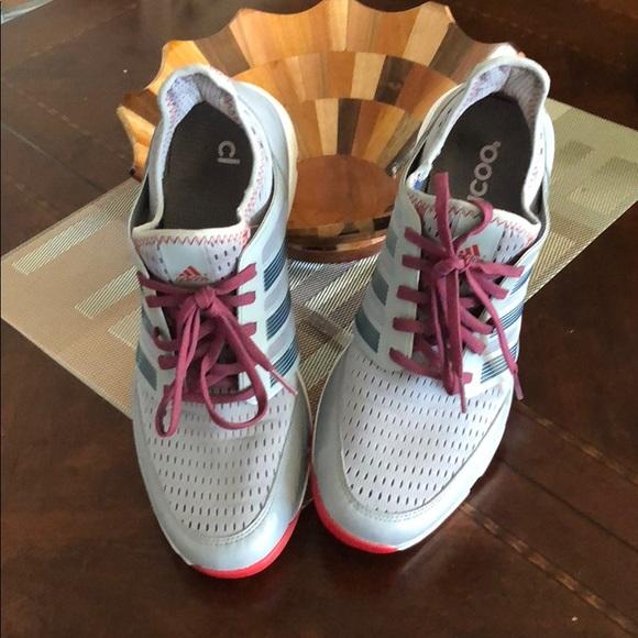 Men's adidas climacool golf shoes.